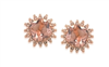 Carolee Rosegold Cushion Cut Clip Earrings