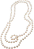 women's white Faux Pearl 72 inch rope necklace