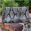 Women's Crossbody Bag in Pewter Snake Print