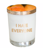 11 oz candle in 14 oz rocks glass that smells like grapefruit açaí.