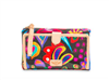 Consuela Women's oilcloth slim wallet in black swirl