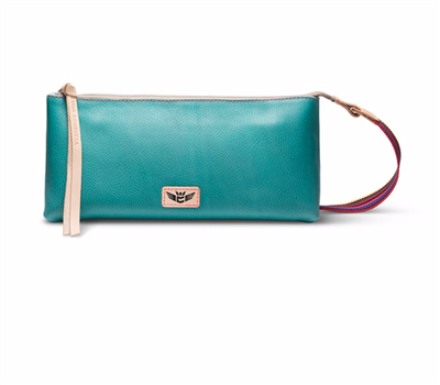Consuela Bags Tool Bag Turquoise pebbled leather