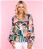women's long sleeve print blouse