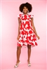 "Ladies ""JoeJoe"" Dress in Azalea Bloom Print Crosby By Mollie Burch"