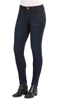 ladies jeggings in indigo blue