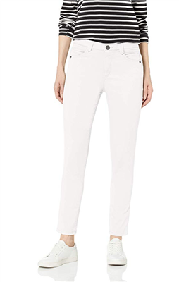 ladies ankle length jeans in white