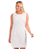 womens white seersucker dress