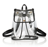 clear vinyl backpack with black trim