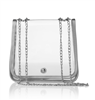 clear vinyl bag with chain strap