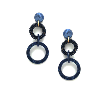 Women's Blue circle earrings