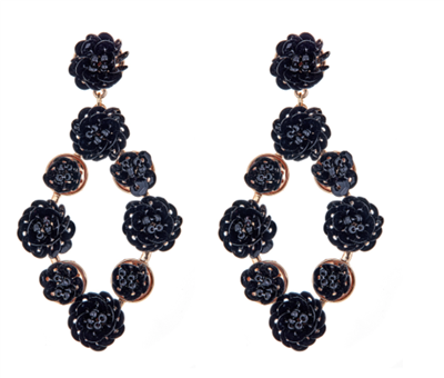 Women's Florence Black Earrings