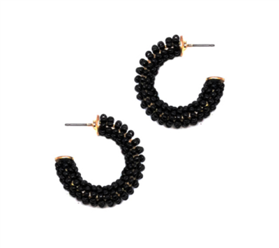 Women's Black Hoop earrings