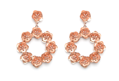 Women's Rose Gold Circle Earrings