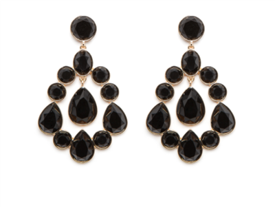 Women's Vivianne Black Earrings