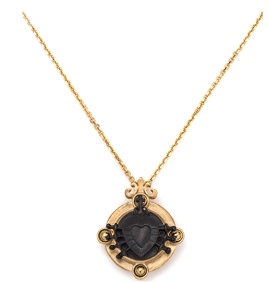 French Kande Noir Arles Necklace Gold