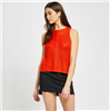Gentle Fawn sleeveless ladies knit top in burnt orange