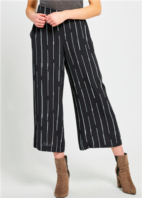 Gentle Fawn ladies wide leg black stripe pants