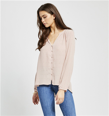 Gentle Fawn ladies long sleeve pink blouse