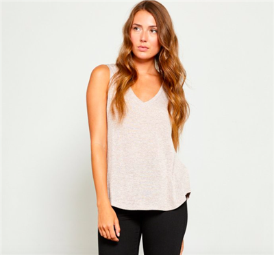 ladies taupe tank top