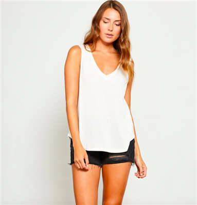ladies white tank top