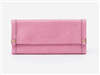 ladies long leather wallet in lilac