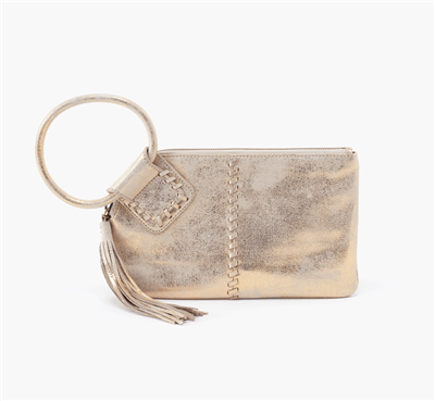 Hobo Bags Sable Wristlet in Distressed Gold