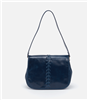 ladies leather handbag in blue  with single strap