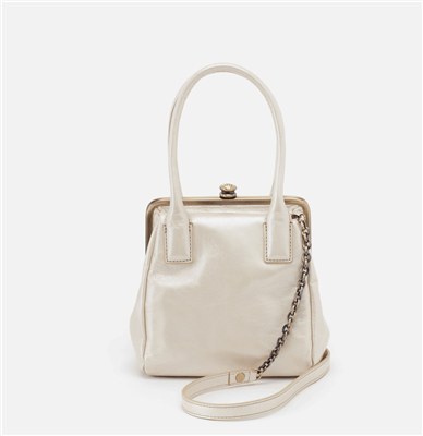 Ladies Ginger handbag in pearled ivory from Hobo.