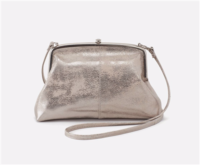 Ladies distress platinum leather cross body bag from Hobo.