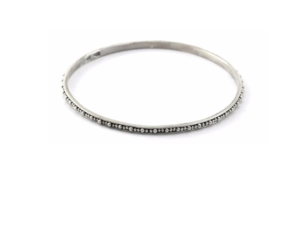 Indiri Collection Sterling Silver Beaded Bangle Bracelet