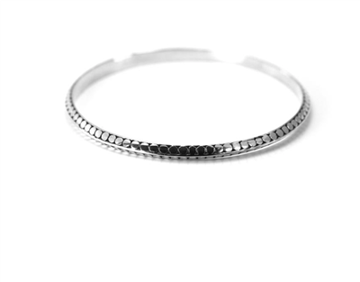 Indiri Collection Sterling Silver Dot Bangle Bracelet