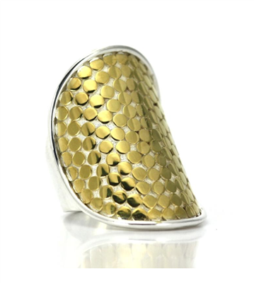 Indiri Collection Gold & Silver Dot Ring