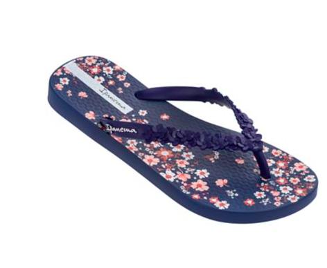 959d43dfd7d7 Ipanema Flora Flip Flop in Navy - Seersucker Sassy Boutique - Free ...
