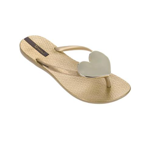 dd0ada6f903e Ipanema Wave Heart Flip Flops Gold with Gold Heart - Seersucker ...