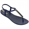 Ipanema Pietra Sandal in navy with gold hardware