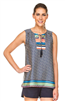 Women's stripe dot sleeveless top