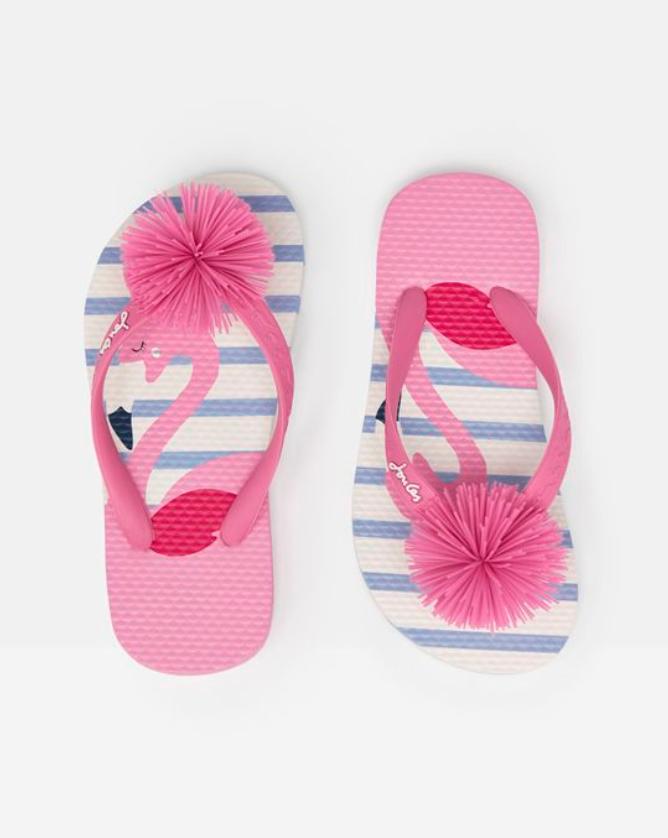 Little Girls's Flamingo Flip Flops
