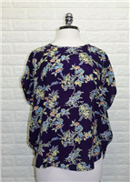 ladies short sleeve navy floral top