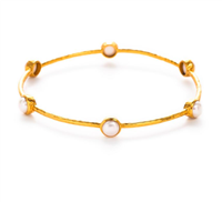 gold pearl stacking bangle