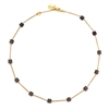 16 inch gold necklace with mixed metal squares