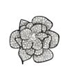 Women's Crystal Flower Pin