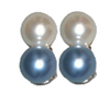white and blue pearl clip earrings - safety harbor florida