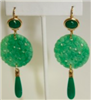 jade and gold earrings - safety harbor florida