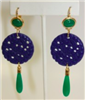 jade, lapis and gold drop earrings - safety harbor florida