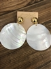 small white shell disc summer earrings - safety harbor florida