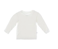Long Sleeve baby Tee in natural