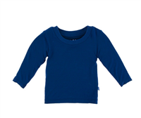 Long Sleeve baby Tee in navy
