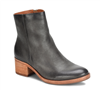 dark grey ladies ankle boot with 2 inch heel