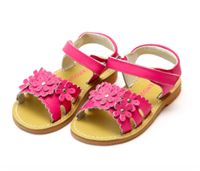 baby flower sandals in hot pink