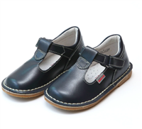 baby navy leather t-strap mary jane shoes